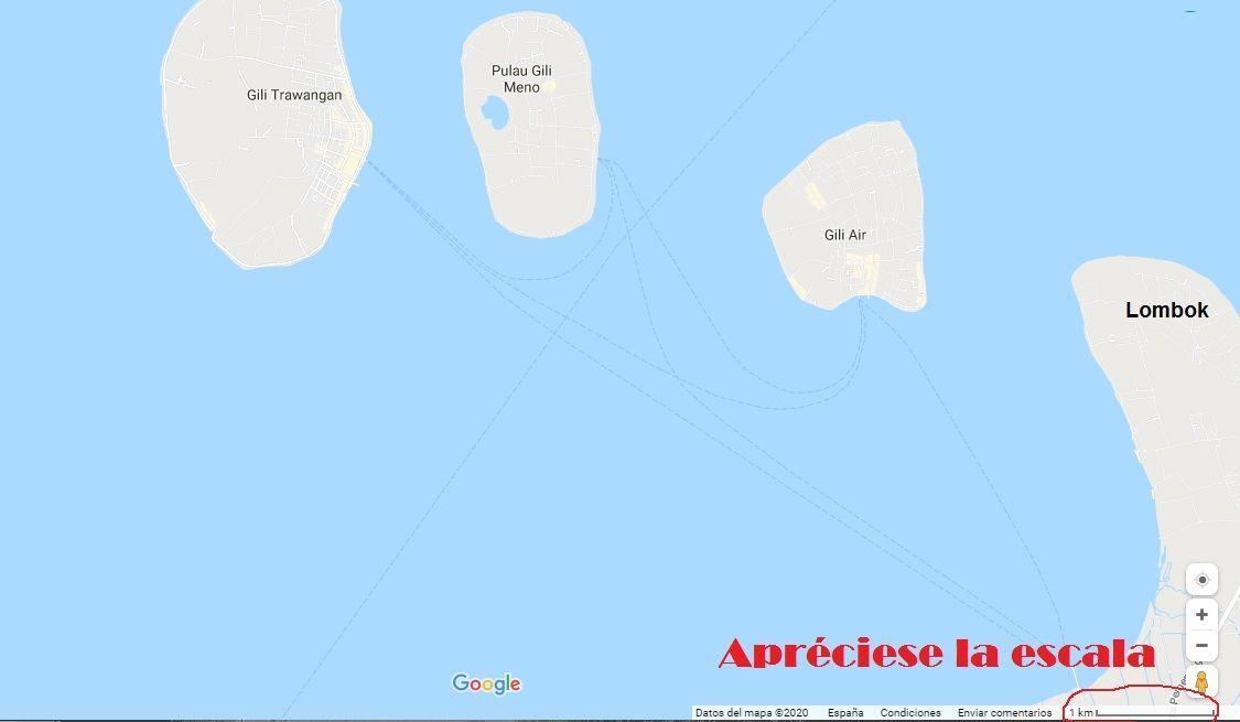Mapa Islas Gili - Haz La Mochila