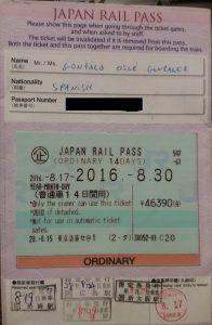 JAPAN RAIL PASS - HAZ LA MOCHILA