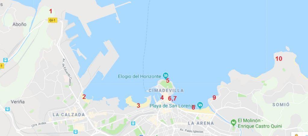Mapa Gijón - Haz La Mochila