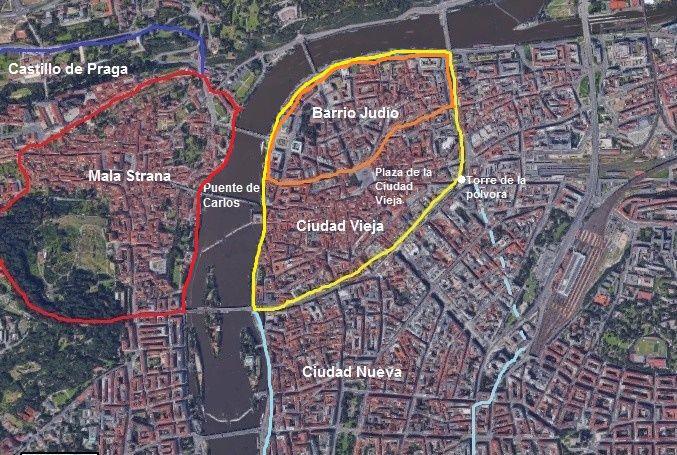 Plano general de Praga - Haz La Mochila