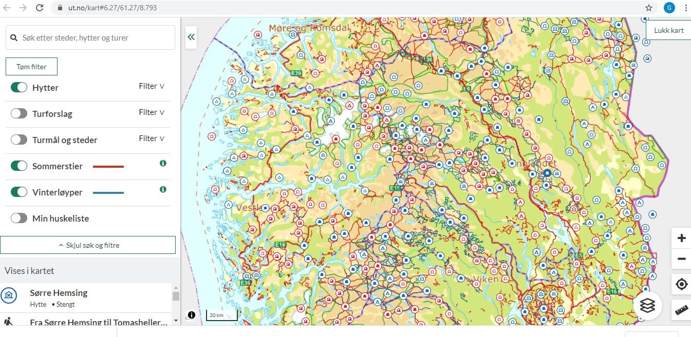 Refugios en Noruega