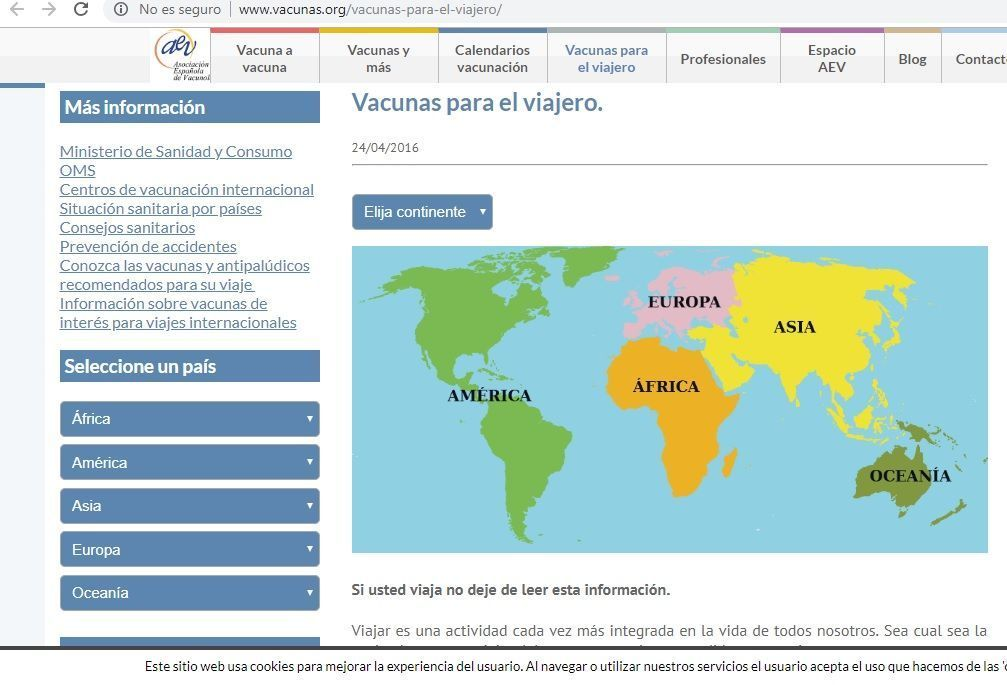 Vacunacion internacional - Haz La Mochila
